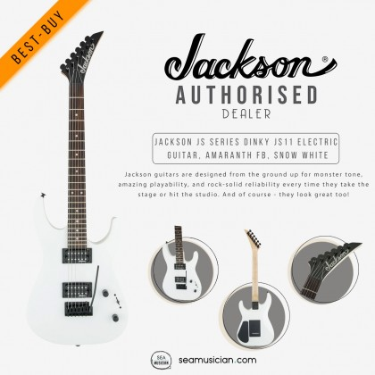 JACKSON JS SERIES DINKY JS11 ELECTRIC GUITAR AMARANTH FRETBOARD COLOR SNOW WHITE 2910121576