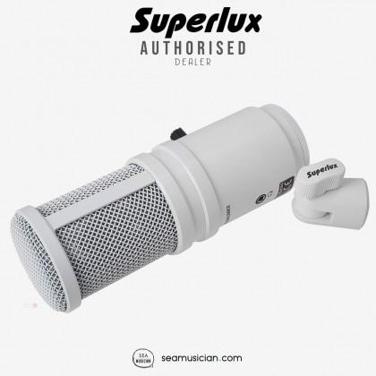 SUPERLUX E205U MKII USB STUDIO CONDENSER MICROPHONE COLOUR WHITE