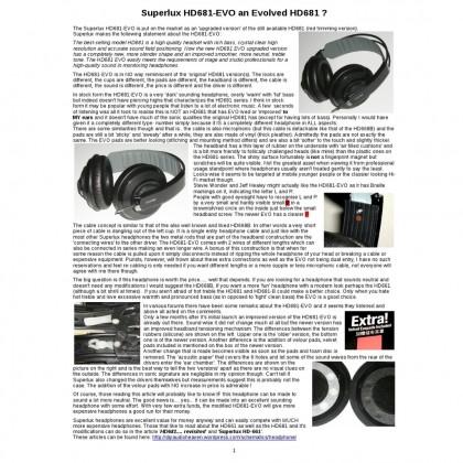 SUPERLUX HD681 EVO BK PROFESSIONAL NOISE ISOLATING  MONITOR HEADPHONE BLACK