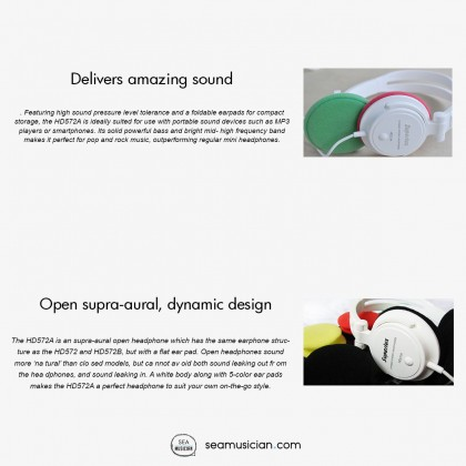 SUPERLUX HD572A LIGHTWEIGHT HEADPHONE WITH COLOR PADS