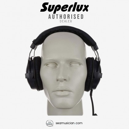 SUPERLUX HD660 CLOSED DYNAMIC STEREO PROFESSIONAL MONITORING HEADPHONE