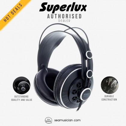 SUPERLUX HD681F SEMI-C PROFESSIONAL MONITORING HEADPHONE FLAT EXTENDED