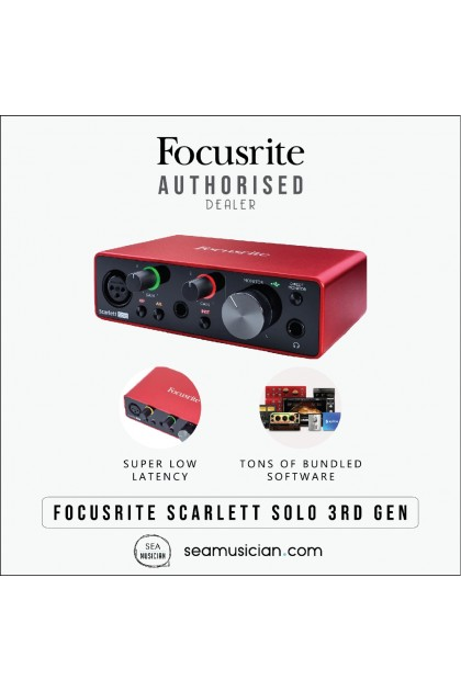 FOCUSRITE SCARLETT SOLO 3RD GENERATION AUDIO INTERFACE