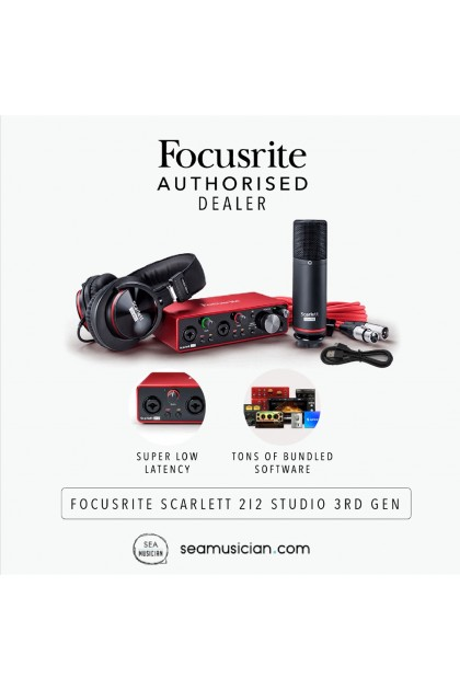FOCUSRITE SCARLETT 2i2 STUDIO PACK 3RD GEN RECORDING BUNDLE
