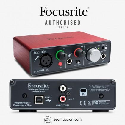 FOCUSRITE SCARLETT SOLO STUDIO PACK 3RD GEN RECORDING BUNDLE