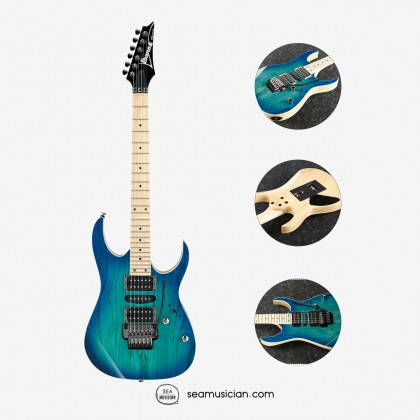 IBANEZ RG SERIES RG370AHMZ BMT ELECTRIC GUITAR COLOR BLUE MOON BURST