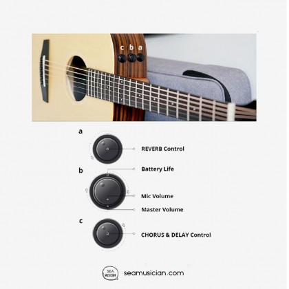 ENYA EA-X2E GRAND AUDITORIUM SOLID TOP ACOUSTIC GUITAR WITH EQ (W/PADDED GREY BAG & STRAP)