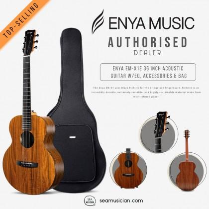 ENYA EM-X1E 36 INCH ACOUSTIC GUITAR W/EQ, ACCESSORIES & BAG
