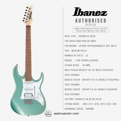 IBANEZ GRX40 MGN GIO SERIES ELECTRIC GUITAR COLOR METALIC LIGHT GREEN
