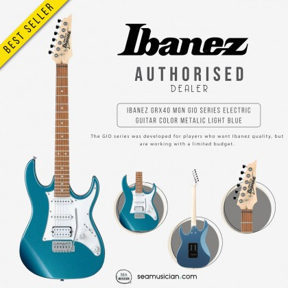 IBANEZ GRX40 MGN GIO SERIES ELECTRIC GUITAR COLOR METALIC LIGHT BLUE