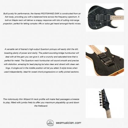 IBANEZ RG370AHMZ SWK RG SERIES ELECTRIC GUITAR COLOR SILVER WAVE BLACK