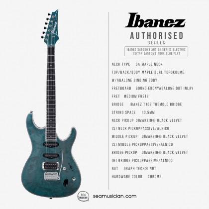 IBANEZ SA560MB ABT SA SERIES ELECTRIC GUITAR COLOR AQUA BLUE FLAT