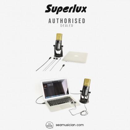 SUPERLUX L401U LARGE DIAPHRAGM USB CONDENSER MICROPHONE