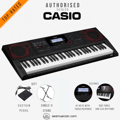 CASIO CT-X3000 61-KEYS PORTABLE KEYBOARD WITH KEYBOARD STAND & SUSTAIN PEDAL