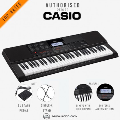 CASIO CT-X700 61-KEYS PORTABLE KEYBOARD WITH KEYBOARD STAND & SUSTAIN PEDAL