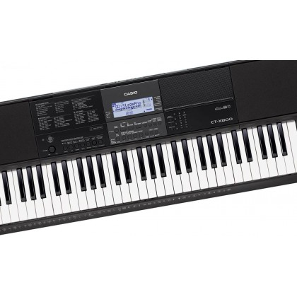 CASIO CT-X800 61-KEYS PORTABLE KEYBOARD WITH KEYBOARD STAND & SUSTAIN PEDAL