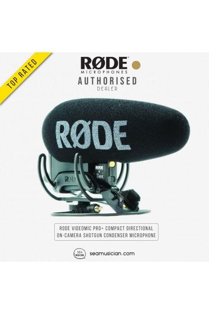 RODE VIDEOMIC PRO+ COMPACT DIRECTIONAL ON-CAMERA SHOTGUN CONDENSER MICROPHONE