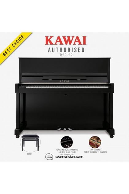 KAWAI ND-21 UPRIGHT PIANO EBONY POLISH WITH BENCH (MII)