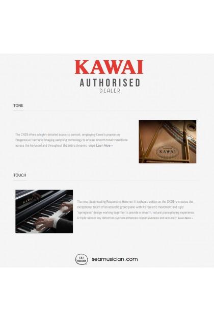 KAWAI CN SERIES CN29 DIGITAL PIANO 88 KEYS W/BENCH & HEADPHONE (MII) BLACK
