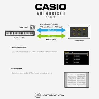 CASIO CDP SERIES CDP-S150/CDP S150 88 KEYS DIGITAL PIANO 3 PEDAL UNIT W/BENCH KB01/D90