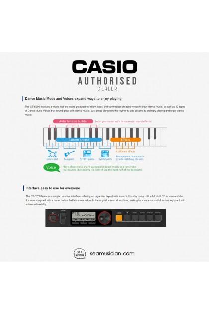 CASIO CT-S200 BLACK TONE 61 KEYS PORTABLE KEYBOARD