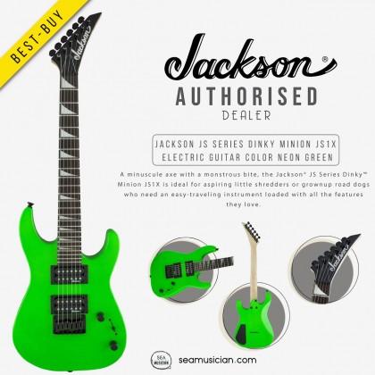 JACKSON JS SERIES DINKY MINION JS1X ELECTRIC GUITAR AMARANTH FRETBOARD COLOR NEON GREEN 2912223518