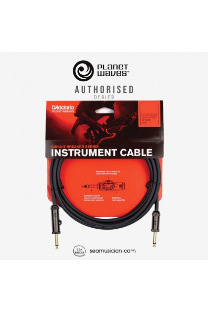 PLANET WAVES PW-AG-15 CIRCUIT BREAKER INSTRUMENT CABLE 15 FT