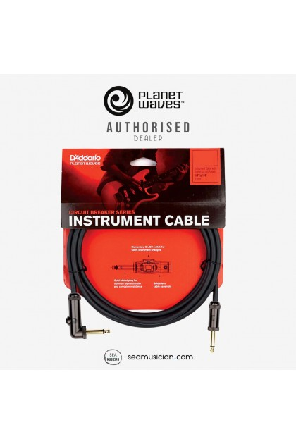 PLANET WAVES PW-AGLRA-10 CIRCUIT BREAKER RIGHT-ANGLE INSTRUMENT CABLE 10 FT