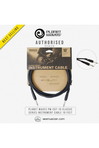 PLANET WAVES PW-CGT-10 CLASSIC SERIES INSTRUMENT CABLE 10 FEET