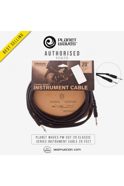 PLANET WAVES PW-CGT-20 CLASSIC SERIES INSTRUMENT CABLE 20 FEET