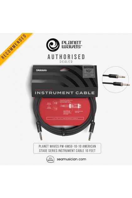 PLANET WAVES PW-AMSG-10-10 AMERICAN STAGE SERIES INSTRUMENT CABLE 10 FEET