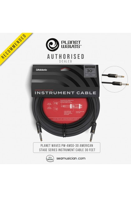 PLANET WAVES PW-AMSG-30 AMERICAN  STAGE SERIES INSTRUMENT CABLE 30 FEET