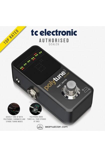 TC ELECTRONIC POLYTUNE 3 NOIR MINI GUITAR EFFECT PEDAL 000-DHR00