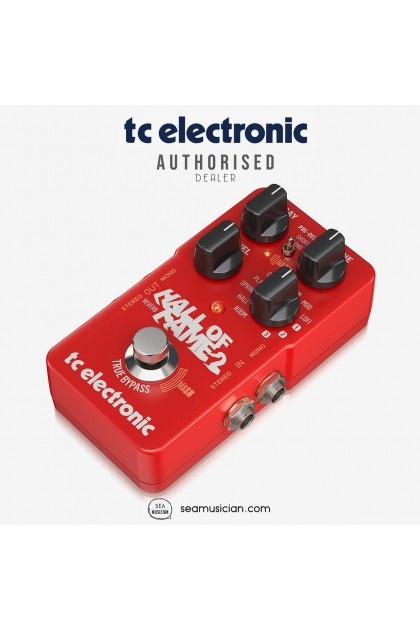 TC ELECTRONIC HALL OF FAME 2 REVERB GUITAR EFFECT PEDAL 000-CI300