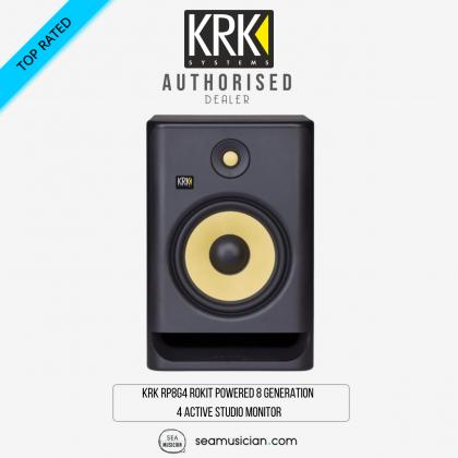 KRK RP8G4 ROKIT POWERED 8 GENERATION 4 ACTIVE STUDIO MONITOR