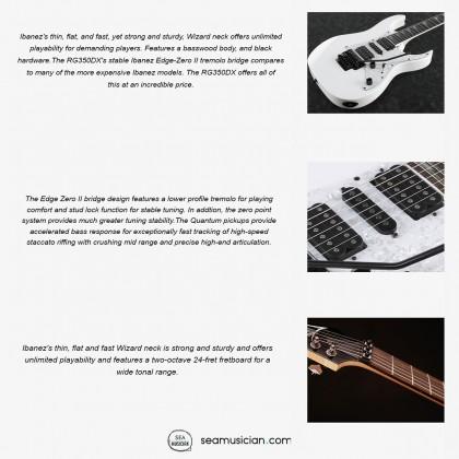 IBANEZ RG SERIES RG350DXZ ELECTRIC GUITAR COLOR WHITE