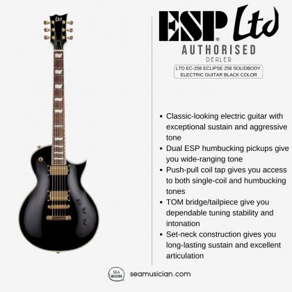 LTD EC-256 ECLIPSE 256 SOLIDBODY ELECTRIC GUITAR BLACK COLOR