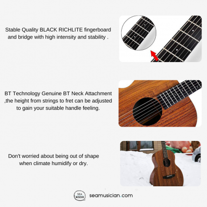 ENYA EMX1 HIGH PRESSURE LAMINATED HPL  ACOUSTIC GUITAR PACKAGE WITH BAG & ACCESORIES