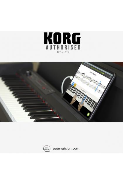 KORG LP-380-U DIGITAL HOME PIANO - ROSEWOOD GRAIN BLACK FINISH (88-KEY DIGITAL HOME PIANO/ 30 SOUNDS/ BUILT-IN SPEAKERS/ RH3 HAMMER ACTION KEYBOARD/ 3-PEDAL UNIT WITH HALF-DAMPER SUPPORT/ USB AUDIO/MIDI)