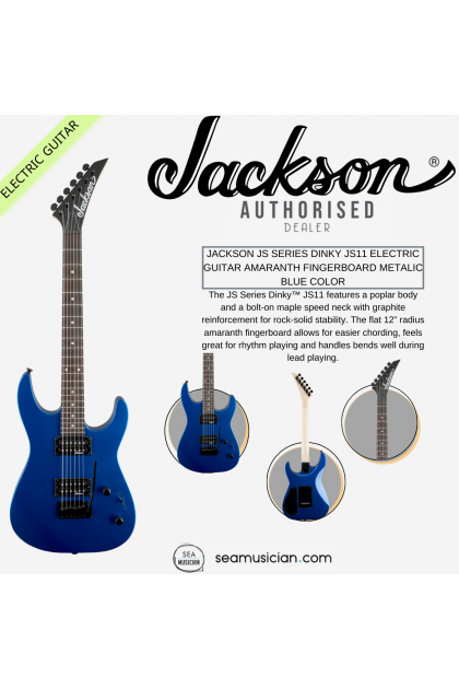 JACKSON JS SERIES DINKY JS11 ELECTRIC GUITAR AMARANTH FINGERBOARD METALIC BLUE COLOR (JS 11/ JS-11)