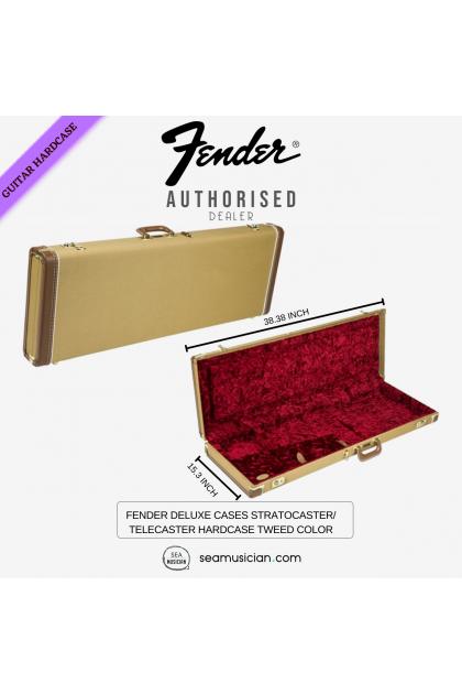 FENDER DELUXE CASES STRATOCASTER/TELECASTER HARDCASE TWEED COLOR (HARDSHELL CASES/ GUITAR CASES/ WOOD CASE)
