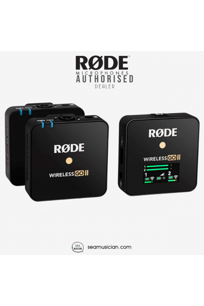 RODE WIRELESSGO II COMPACT WIRELESS II GO MIC SYSTEM BLACK COLOR (DUAL CHANNEL / MICROPHONE SYSTEM)
