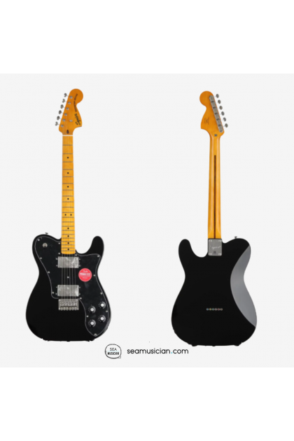 SQUIER CLASSIC VIBE 70S TELECASTER DELUXE ELECTRIC GUITAR WITH MAPLE FINGERBOARD - BLACK COLOR