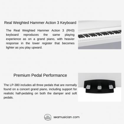 KORG LP380 88 KEYS DIGITAL PIANO WHITE COLOR