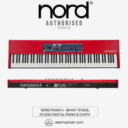 NORD PIANO 4 - 88-KEY STAGE/STUDIO DIGITAL PIANO/SYNTH WITH VIRTUAL HAMMER ACTION WEIGHTED KEYBED
