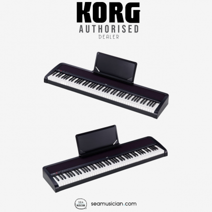 KORG B2N DIGITAL PIANO 88-KEY DIGITAL HOME PIANO WITH NATURAL TOUCH KEYBOARD, 12 SOUNDS, AND BUILT-IN SPEAKERS - BLACK