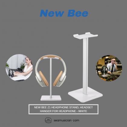 NEW BEE Z1 HEADPHONE STAND, HEADSET HANGER FOR HEADPHONE - WHITE
