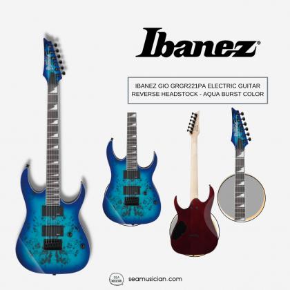 IBANEZ GIO GRGR221PA ELECTRIC GUITAR REVERSE HEADSTOCK - AQUA BURST COLOR