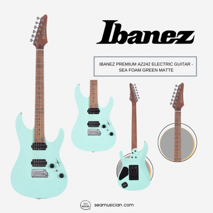 IBANEZ PREMIUM AZ242 ELECTRIC GUITAR - SEA FOAM GREEN MATTE