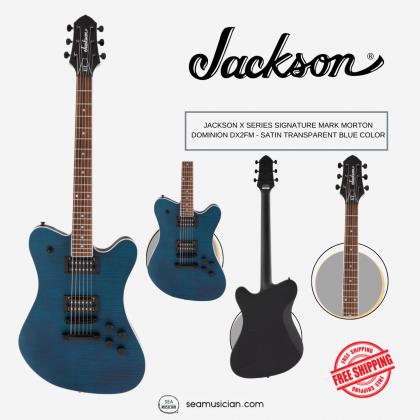 JACKSON X SERIES SIGNATURE MARK MORTON DOMINION DX2FM - SATIN TRANSPARENT BLUE COLOR